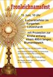 Hochfest Fronleichnam am Donnerstag, 15. Juni 2017