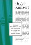 Orgelkonzert am Sonntag, 3. Dezember um 18.30 Uhr in Lützenhardt